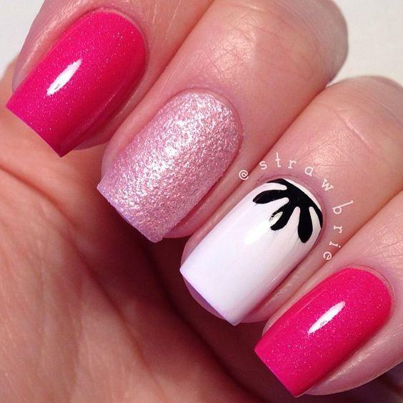 fucsia uñas decoracion