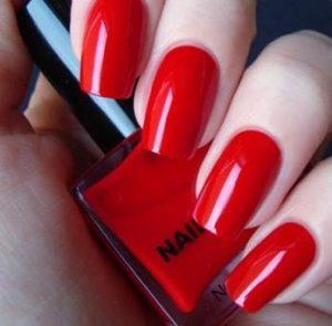 uñas color rojo