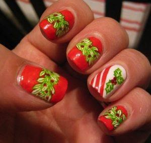 Diseños encantadores para lucir tus uñas acrilicas en navidad