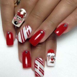 Diseños encantadores para lucir tus uñas de navidad