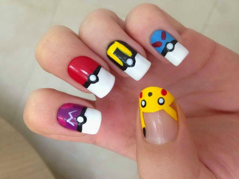 Diseño Pokemon Par Tus Uñas Diseños De Uñas Decoradas