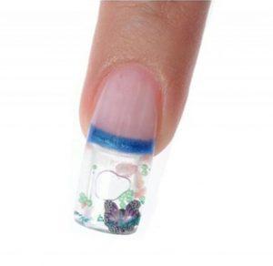 diseño de uñas acuario