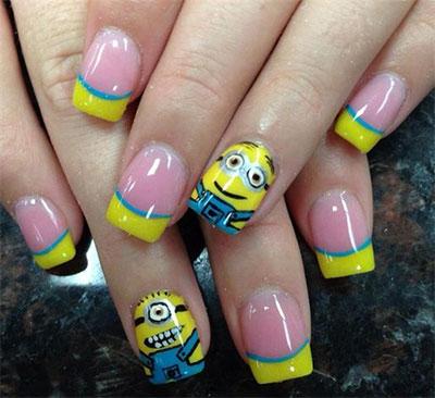 otros diseños de uñas con dibujos minions