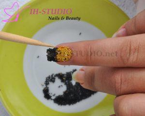 Decoración de uñas al estilo caviar paso a paso