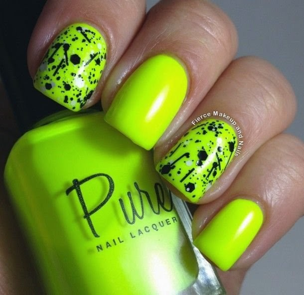 decorando-uñas-de-neon-con-negro