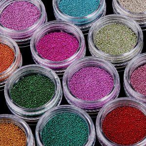 micro perlas para uñas caviar