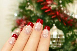 uñas-en-rojo-para-navidad