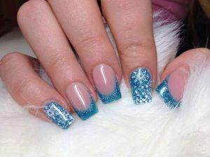 Fácil Nail Art Bicolor Azul Paso A Paso