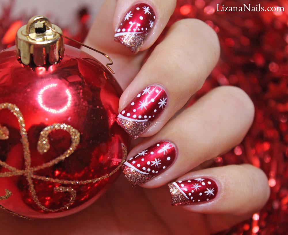 Uñas Decoradas En Rojo Para Estas Navidades