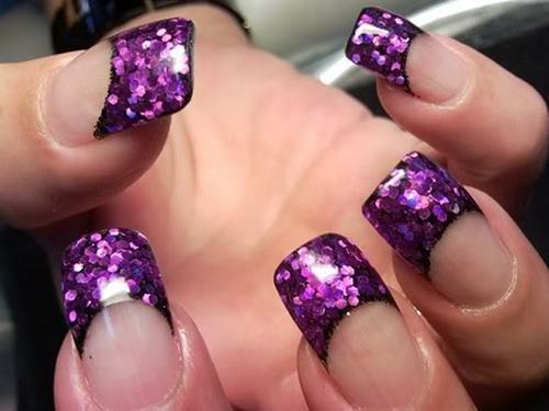 Uñas Decoradas En Color Violeta Modelos Y Diseños A La Moda