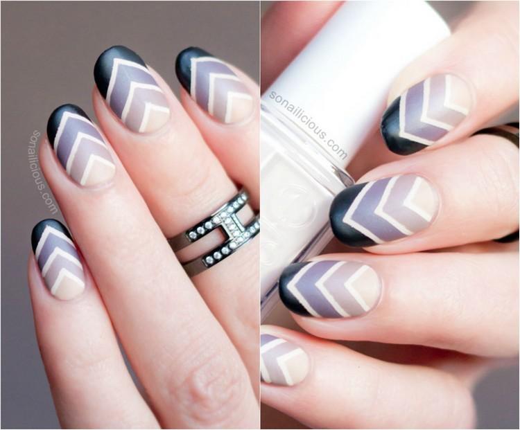 bellos nail art con rayas en angulo ⋆ Diseños de uñas ...