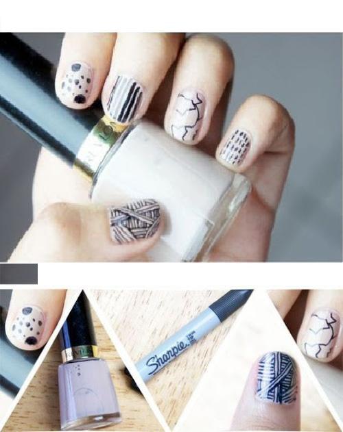 marcadores para uñas de ensueño negro