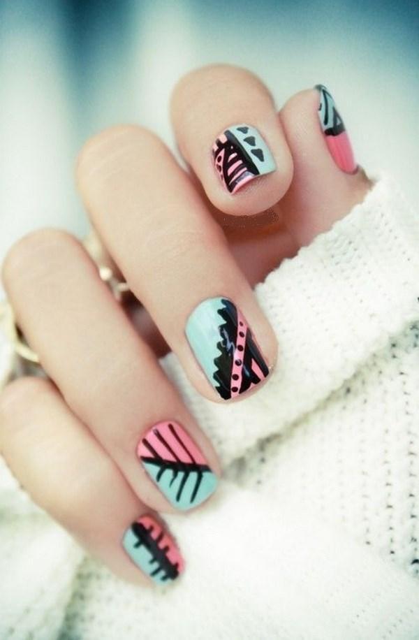 marcadores para uñas de ensueño rosa y celeste