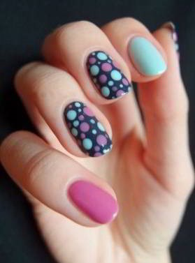 Ideas-para-decorar-tus-uñas-con-puntos 4 ⋆ Diseños de uñas ...