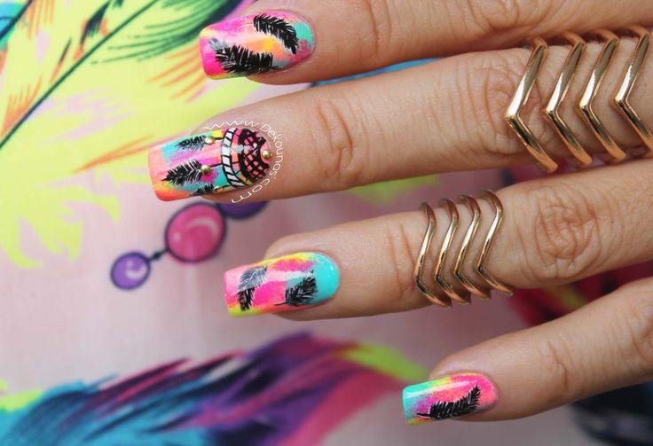 Las plumas la nueva tendencia en decoraci n de u as 5 dise os de u as decoradas - Ultimas tendencias en decoracion de unas ...